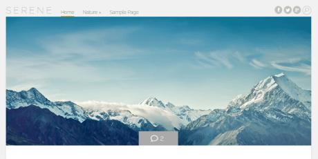 natural wordpress theme