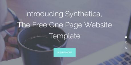 one page html5 bootstrap web template