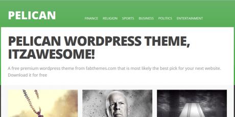pelican wordpress theme