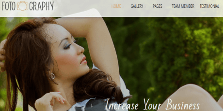 photo portfolio wordpress theme