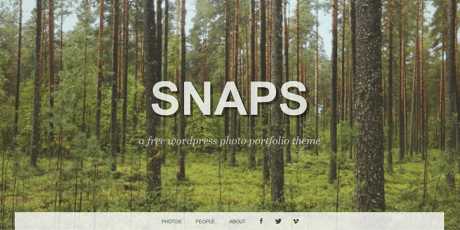 photographers wordpress theme snaps