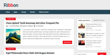 ribbon wordpress magazine theme