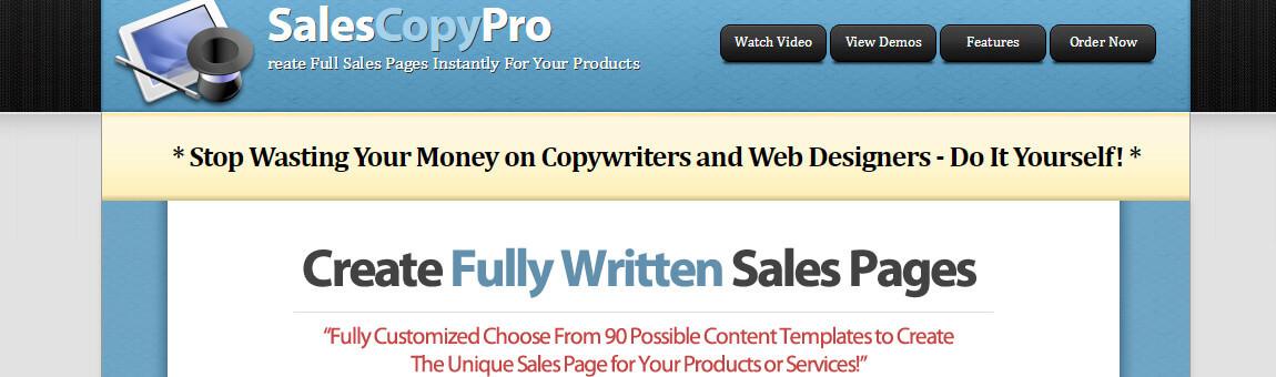 sales copy pro
