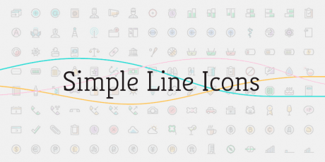 simple line icon pack