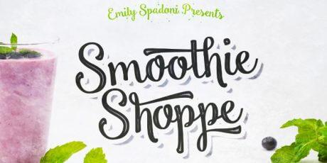 smoothie shoppe free script font