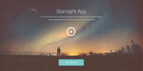 starnight free psd website design