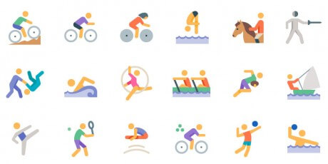 vector svg olympics sports icon set