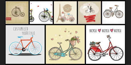 vintage vector eps bike illustrations