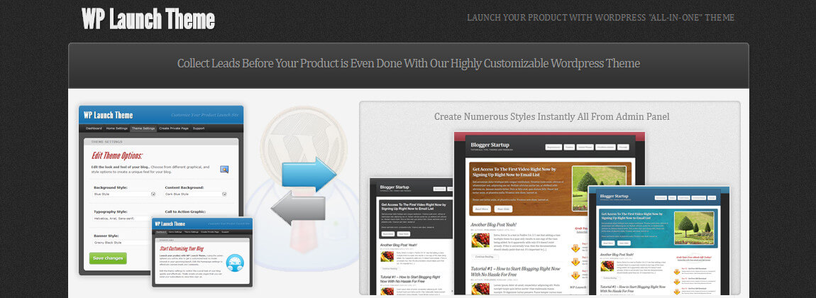 wp launching theme