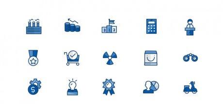 ai business icons bundle
