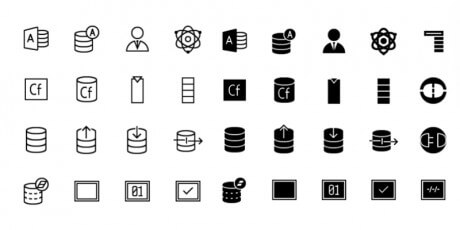 database line icons