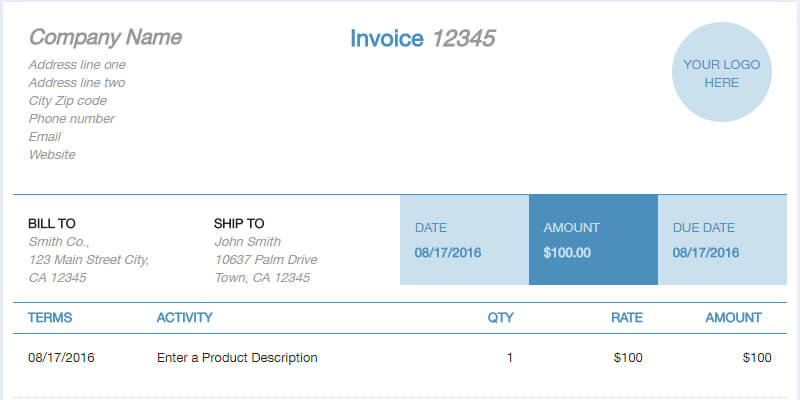 Free Online Invoice Template Generator ByPeople - Free online invoice template