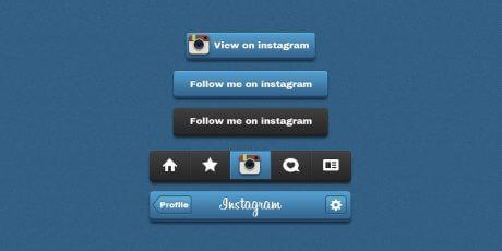 instagram psd button pack