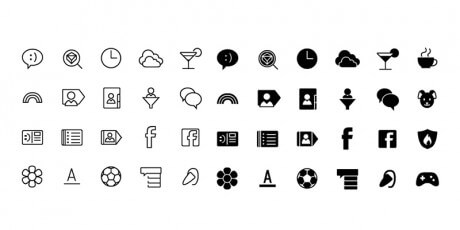 line communications icons