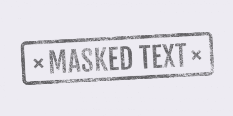 masked text texture
