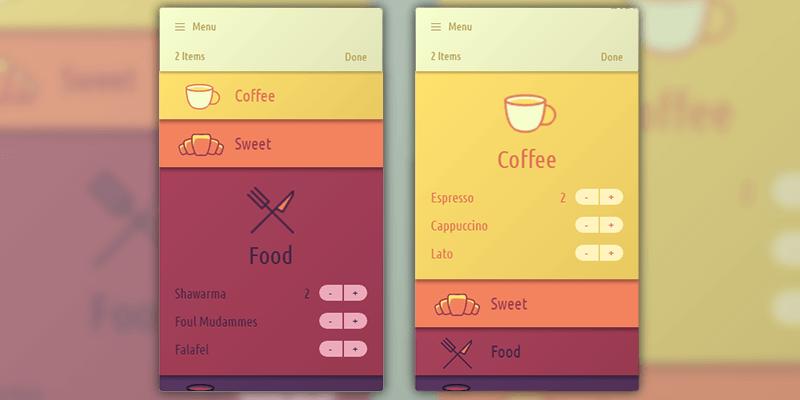 Drop-down Menu App Interface