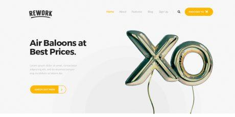 minimalist psd landing page
