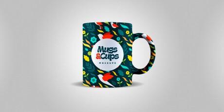 mugs cups psd mockups