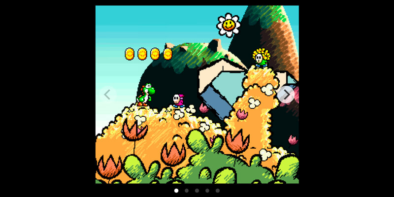 Yoshi's Island Parallax Slider   Bypeople