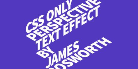perspective text css hover effect