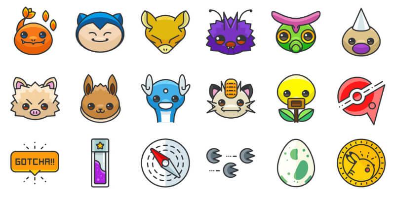 100 Free Pokemon Go Ai, PSD, Sketch, SVG & PNG Icons
