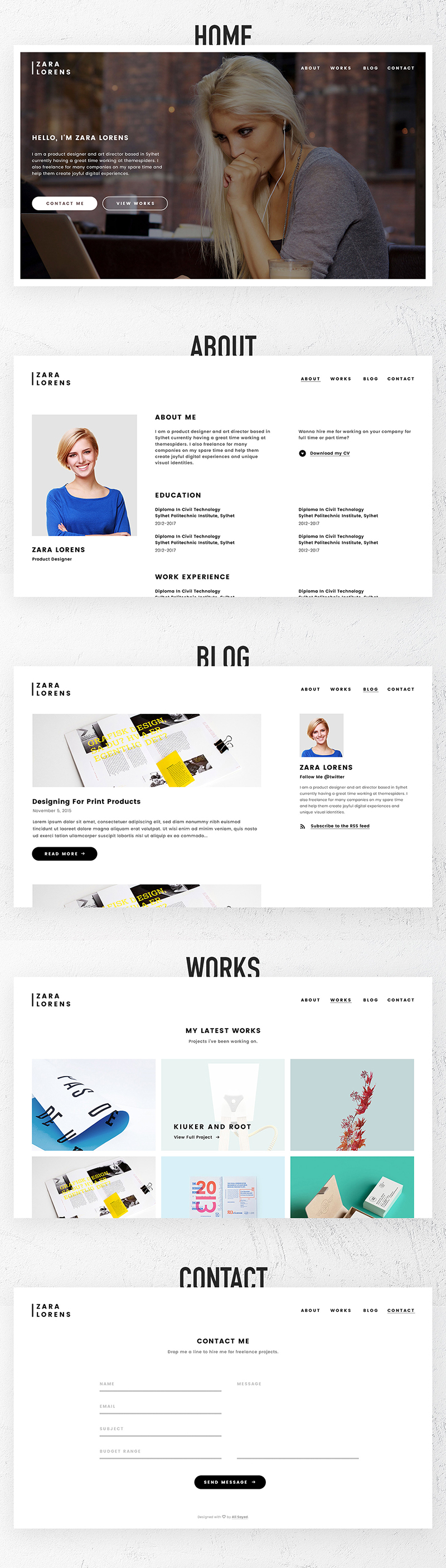 personal portfolio website psd template bypeople a personal portfolio website template that will help you a lot at the moment of introducing your work to the world well differentiated categories like home