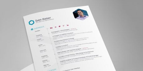resume cv indesign template