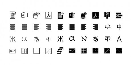 text line icons