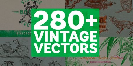 vintage vectors mega bundle
