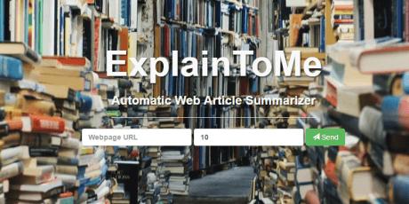 automatic web article summarizer