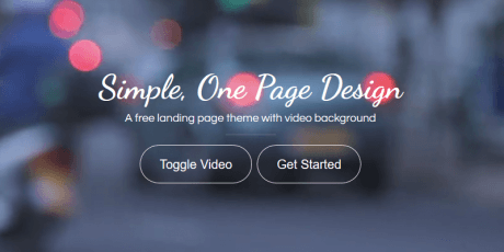 bootstrap template single page