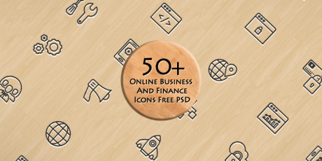 business finance psd icons