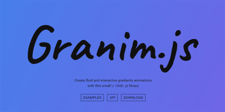 gradient animations javascript library