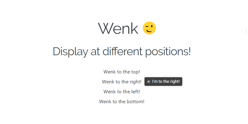 Wenk: Lightweight CSS Tooltip | Bypeople