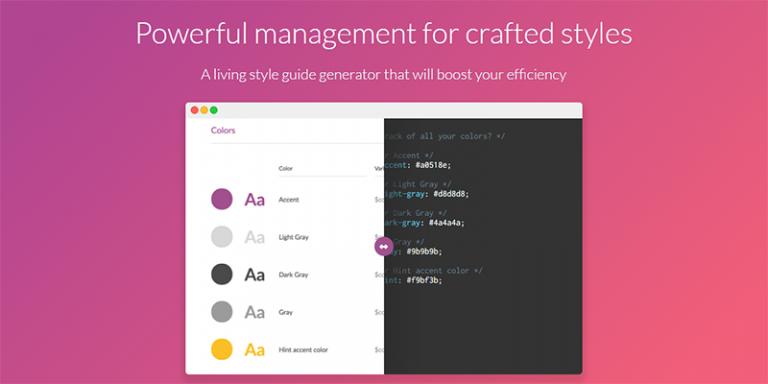 style guide generator Style guide guide is a boilerplate for creating superb style guides style guide template in css by codyhouse style guide template in css was created with flexibility and easy updates in mind.