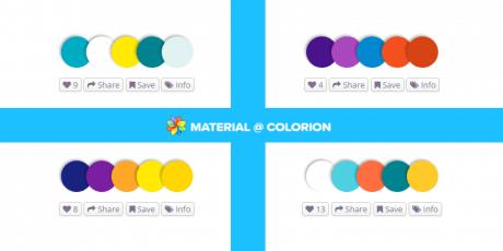 material design color palettes