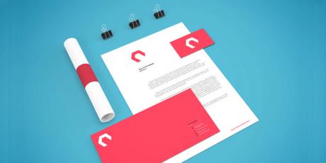 minimalist branding stationery mocku