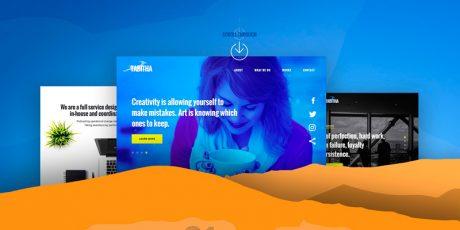 multipurpose website design psd template