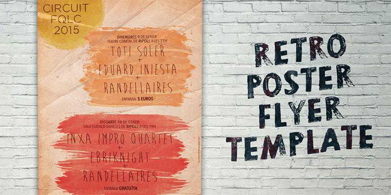 Retro poster flyer template bypeople maxwellsz