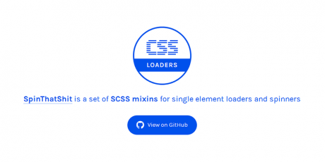 scss loaders spinning set