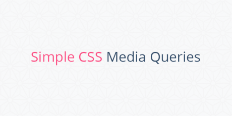 simple css media queries