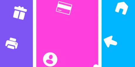 90 line solid icon set