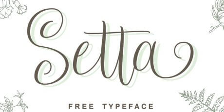 elegantly handwritten typeface