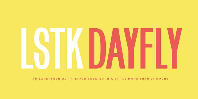 experimental open type font