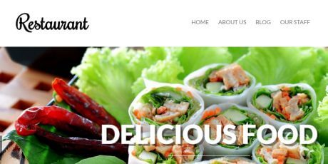 food focused responsive wordpress theme