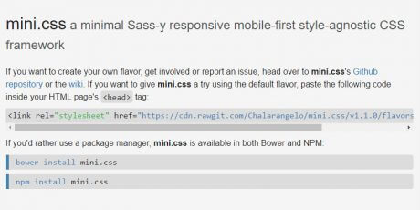minimal sass mobile first framework