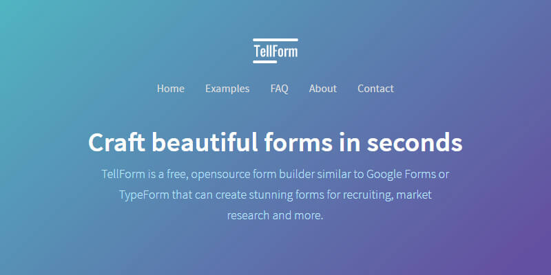 TellForm: Open Source Visual Forms Generator | Bypeople