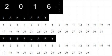 web calendar date picker