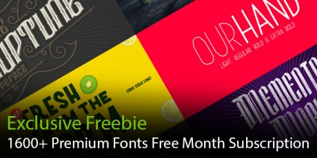 1600 premium fonts free one month subscription