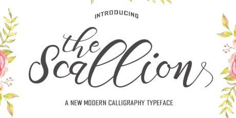 beautiful modern handmade font